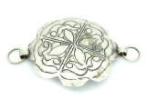 Afghan Tribal Silver Pendant - Amulet 90mm (AF791)