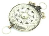 Afghan Tribal Silver Pendant - Amulet 110mm (AF794)