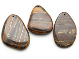 Tiger Iron Irregular Teardrop Gemstone Pendant 60mm (GSP2218)