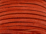 """Red-Orange Suede Leather Lace 3mm - 36"""" (LR111)"""