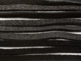"Black Deerhide Leather Lace 3mm - 36"" (LR119)"