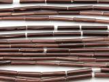Dark Purple Glass Tube Beads 12-16mm (T821)