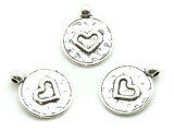 Heart - Pewter Pendant 20mm (PW1191)