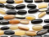 Rice Water Buffalo Horn Beads 14-19mm (HN78)