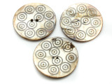 Afghan Carved Shell Button 50mm (AF714)