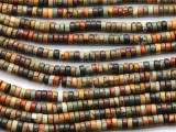 Red Creek Jasper Heishi Gemstone Beads 4mm (GS4653)