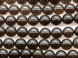 Smoky Quartz Round Gemstone Beads 10mm (GS4660)