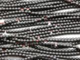 Gunmetal Gray Electroplated Hematite Round Gemstone Beads 3mm (GS4671)