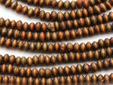 Brown Saucer Wood Beads 5mm (WD980)