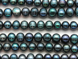 Teal Blue Potato Pearl Beads 8-10mm (PRL205)