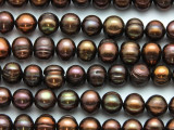 Brown Potato Pearl Beads 9-11mm (PRL206)