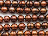 Copper Irregular Round Pearl Beads 10-12mm (PRL211)