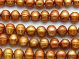 Orange Potato Pearl Beads 9-11mm (PRL212)