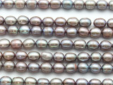Lavender Oval Pearl Beads 7-8mm (PRL215)