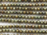 Olive Green Irregular Potato Pearl Beads 5-6mm (PRL218)