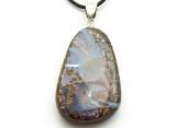 Boulder Opal Pendant w/Sterling Silver Bail 34mm (BOP342)