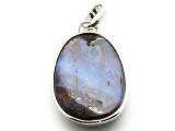 Sterling Silver & Boulder Opal Pendant 37mm (BOP351)