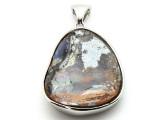 Sterling Silver & Boulder Opal Pendant 35mm (BOP352)