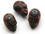 Sugar Skull Raku Ceramic Bead 32mm - Peru (CER173)