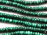 Malachite Rondelle Gemstone Beads 6-7mm (GS4715)