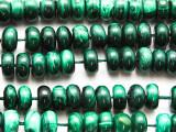 Malachite Rondelle Gemstone Beads 10mm (GS4716)