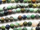 Matte Mixed Jasper Gemstone Beads 8mm (GS4734)