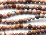 Matte Striped Jasper Gemstone Beads 6mm (GS4753)