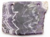 Amethyst Gemstone Slab Pendant (GSP2346)
