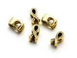 Brass Pewter Bead - Awareness Ribbon 11mm (PB870)