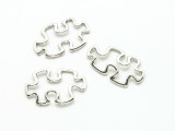 Pewter Connector - Puzzle Piece 31mm (PB872)