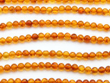 Genuine Amber Round Beads 5mm (AB88)