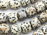 Dalmatian Jasper Barrel Gemstone Beads 10-20mm (GS4772)