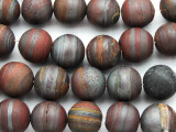Matte Tiger Iron Round Gemstone Beads 16mm (GS4786)