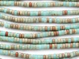 Aqua Terra Jasper Heishi Gemstone Beads 4mm (GS4801)