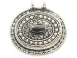 Afghan Tribal Silver Pendant - Onyx 45mm (AF900)