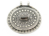 Afghan Tribal Silver Pendant - Tiger Eye 45mm (AF902)