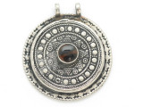 Afghan Tribal Silver Pendant - Tiger Eye 43mm (AF903)