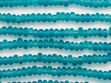 Aqua Blue Irregular Rondelle Glass Beads 7mm (JV1262)
