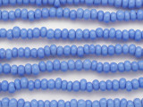 Baby Blue Irregular Rondelle Glass Beads 7mm (JV1263)