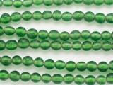 Green w/White Center Glass Beads 8mm (JV1275)