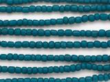 Teal Blue Glass Beads 6mm (JV1293)