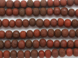 Red 'Lava' Glass Beads 12mm (JV1313)