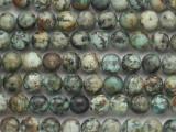 "African ""Turquoise"" Jasper Round Gemstone Beads 8mm (GS4824)"
