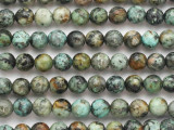 "African ""Turquoise"" Jasper Faceted Round Gemstone Beads 8-9mm (GS4826)"