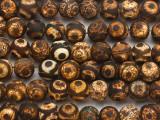Matte Brown Tibetan Agate Round Gemstone Beads 10mm (GS4827)