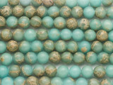 Aqua Terra Jasper Round Gemstone Beads 8mm (GS4833)