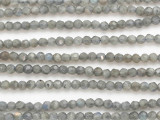 Labradorite Faceted Round Gemstone Beads 4mm (GS4847)