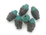 Bronze & Turquoise Buddha Amulet 21mm (AP2039)