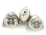 Silver Plated Brass Buddha Amulet 36mm (AP2044)