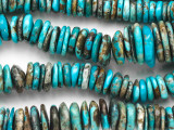 Turquoise Graduated Irregular Disc Beads 6-18mm (TUR1347)